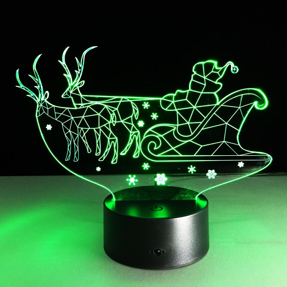 Novelty 3D Christmas Decor Bulbing Night Light Lamp Gadget LED Lighting Nightlight for Child Gift(China (Mainland))