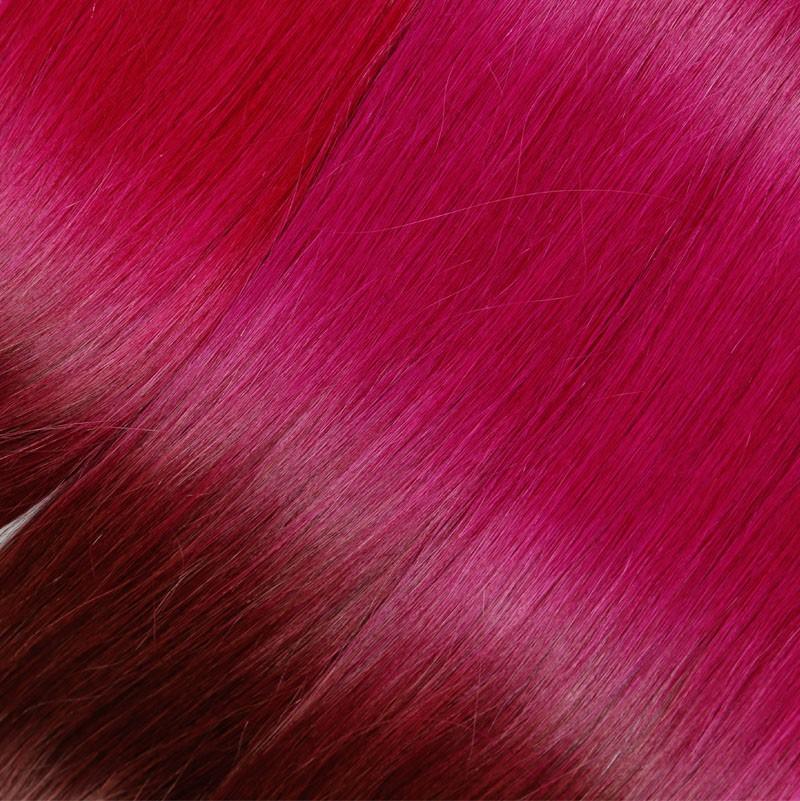 Sleek Burgundy Brazilian Girls 10A Virgin Hair Ombre Color Bulk Hair 3PCS/Lot The Thickest Bundles Human Hair Free Shpping