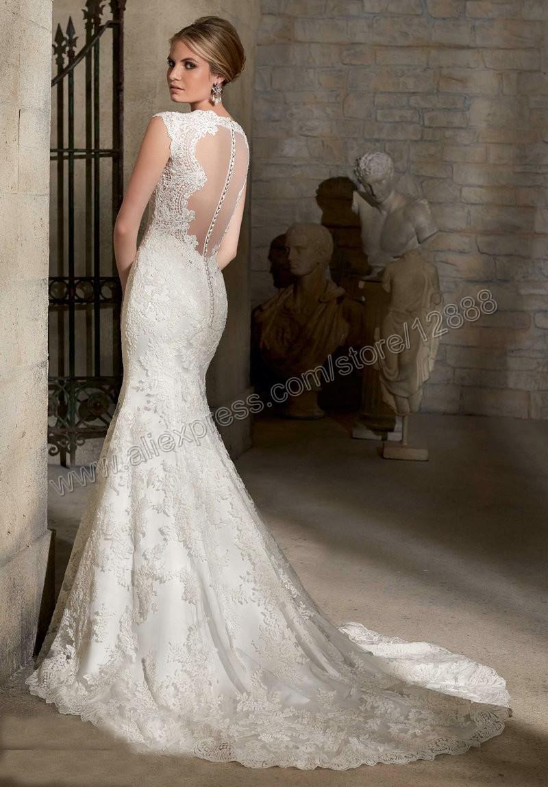 Wedding dress button down back dress blog edin Lace button back wedding dress