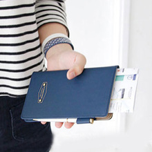 Fashion Women Men Travel Ticket Container Passport Cover Card Case Holder Multi-function Faux Leather Passport Holder