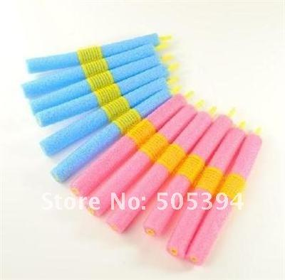 free shipping Simple DIY Self-adhesive Magic EPE Foam Hair Roll Stick (12 pcs) #8771(China (Mainland))