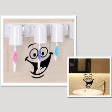 Buy 2pcs Smile Face Toilet Stickers Diy Personalized Furniture Decoration Wall Decals Fridge Washing Sticker Bathroom Home Decor for $1.39 in AliExpress store