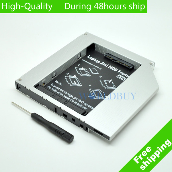High Quality Universal 12.7mm IDE to Sata 2nd HDD Aluminum Hard Disk Drive Caddy for Laptop