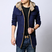 New fashion Down & parkas 2015 winter wool coat men manteau homme trench coat mens pea coat casaco masculino down jacket xxxxl(China (Mainland))