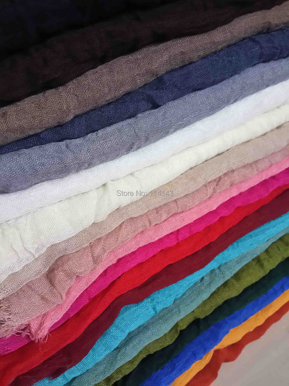 10pcs/lot Soft Oversize Frayed Edges Plain Solid Color Cotton Scarf Hijab Shawl Wrap, Free Shipping(China (Mainland))