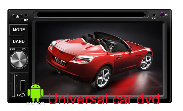 in Dash 6.2 inch russian Android 2 Din Car PC head Deck DVD Player GPS Cpu 1GHZ with 3G WIFI Bluetooth iPOD TV PIP