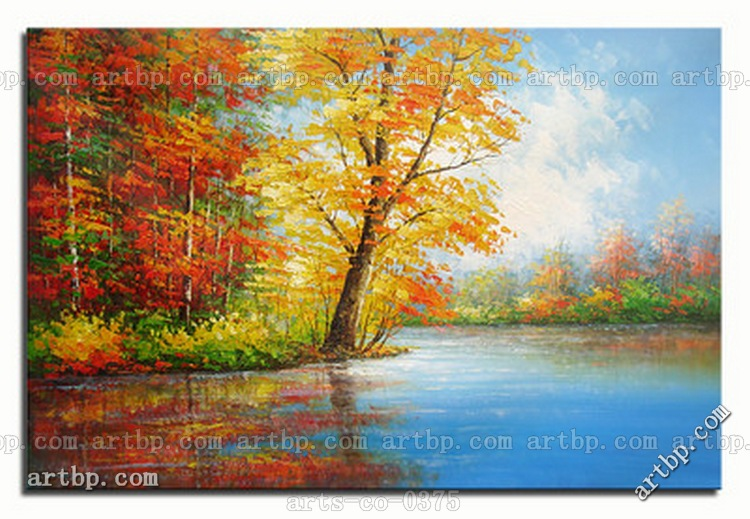 Contemporary palette knife landscape art oil painting on for Large canvas prints for sale