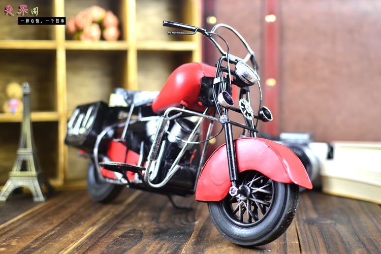 2016 New Cool retro classic wrought iron motorcycle model decor metal crafts manual bar office home decoration(China (Mainland))