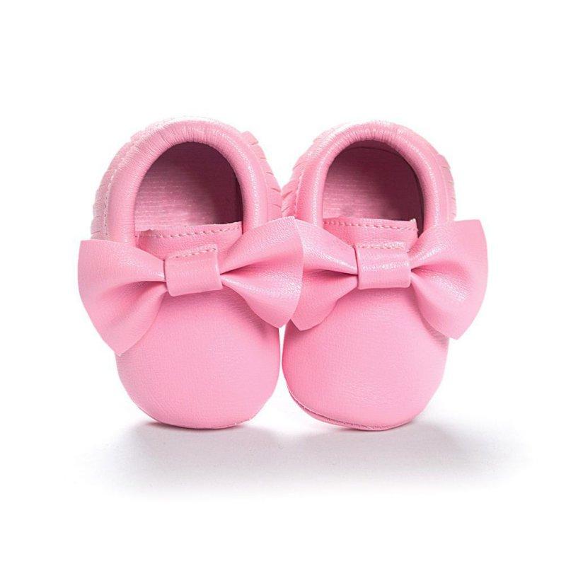 Baby Kids Casual PU Moccasins Prewalker Anti-Slip Walkers Girl Bowknots Shoes 0-18M(China (Mainland))