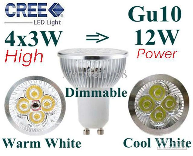 7644  Free ship1pcs  LED Lamp GU10 4X1W 4W Light Bulbs High Power light