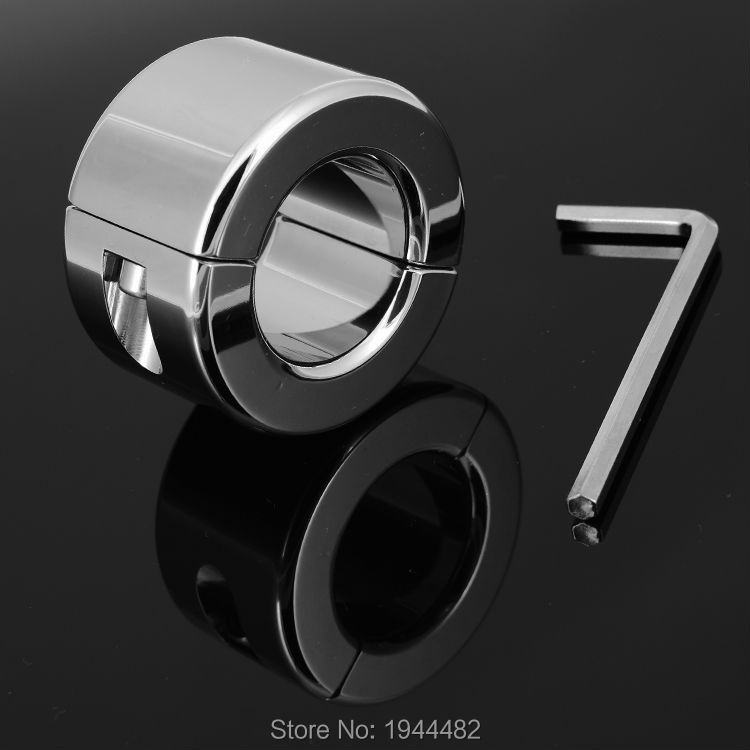 600g Stainless Steel Scrotum Ring Metal Locking Cock Ring CBT Ball Stretchers Perfect Scrotum Stretchers Ball Weights For Penis(China (Mainland))