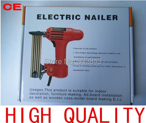 Wholesale Price CE Brand New Updated Electric Framing Nail Gun Handle Nailer 1750w 220-250v Portable Hand Tool(China (Mainland))