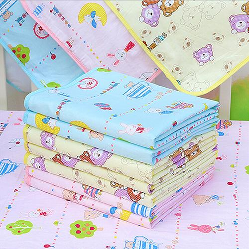 Baby Waterproof Urine Mat Cover Cartoon Cotton Reusable Washable Changing Pad<br><br>Aliexpress