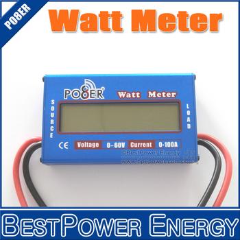 Free Shipping, 2pcs/lot DC 0~60V Watt Meter, 0~100A Power Meter, Energy Meter, Amps, Amp-Hour Tester Checker