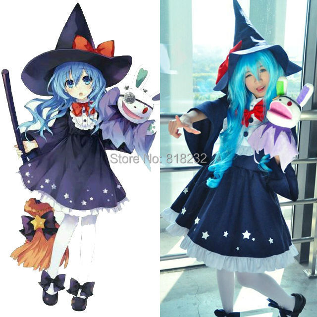 DATE A LIVE Yoshino Halloween Evil Female Outfit Uniform Dress Cosplay CostumesОдежда и ак�е��уары<br><br><br>Aliexpress