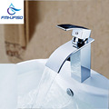 Free Shipping High Quality Basin Sink Mixer Faucet with Hot Cold Water Taps Chrome Finish