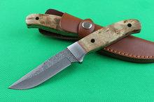 Más nuevo damasco fijó el cuchillo herramientas de rescate 60HRC acampan cuchillos de la supervivencia táctica cuchilla de acero de damasco cuchillos de caza que acampan faca