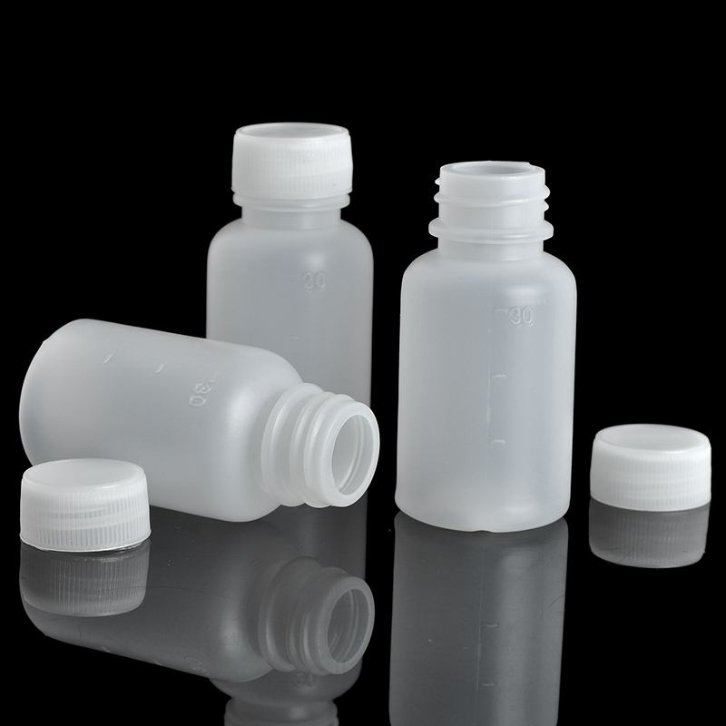 10Pieces/Lot 30 ML Travel Bottle Of Liquid PE Pill Case Small Mouth Drug Bottle With Scale(China (Mainland))