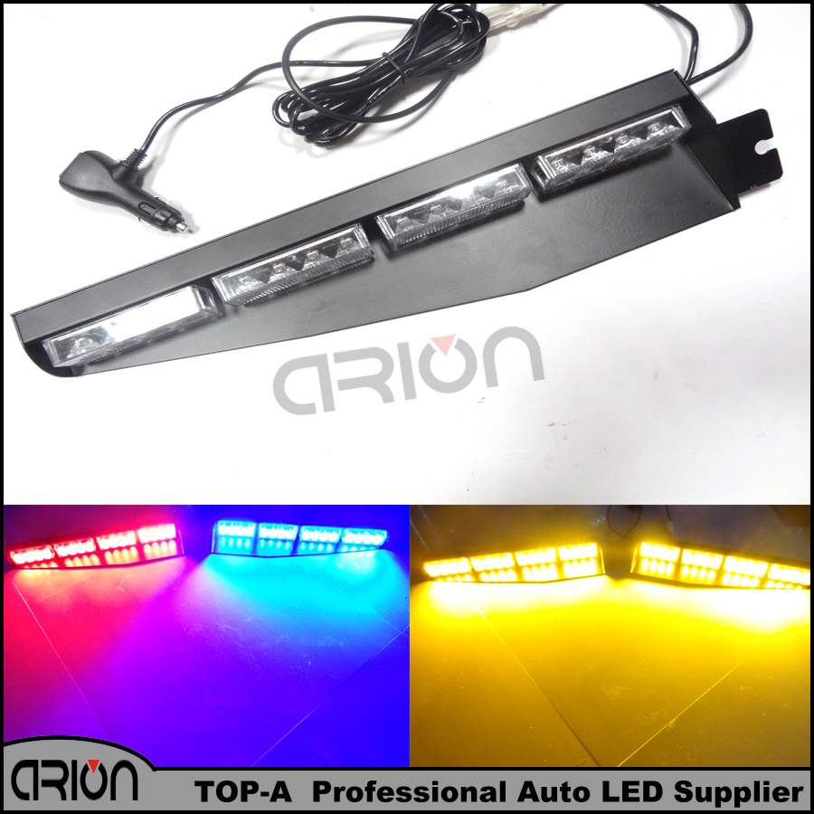 Car White Red Blue Amber Beacon flash light 32 LED Car Boat Truck Warning Emergency Strobe Lights Lamp Free Shopping(China (Mainland))