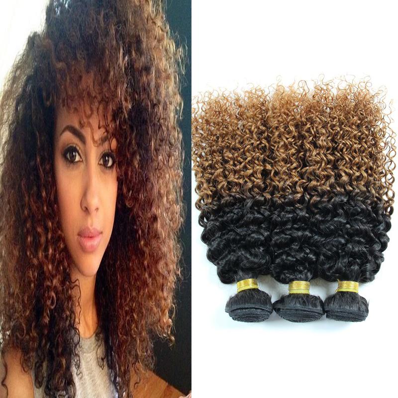 Peruvian Jerry Curl Virgin Hair Jerry Curly Hair 3pcs lot Unprocessed Virgin Human Hair Ombre Peruvian Hair Extensions BJ312<br><br>Aliexpress