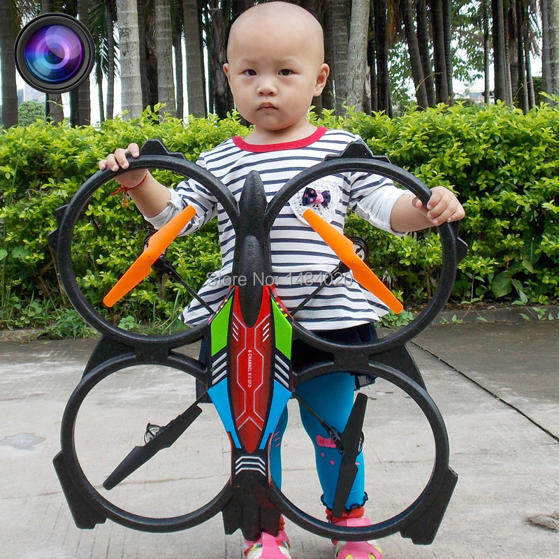 Ultra Large 4 Axis RC UFO with Camera 4CH can 4D Flip 2.4G Remote control Helicopter Big Quadrocopter(China (Mainland))