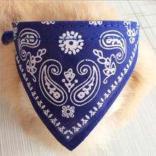 New Adjustable Pet Dog Cat Bandana Scarf Collar Neckerchief 4 Sizes 7 Colors Free Shipping(China (Mainland))