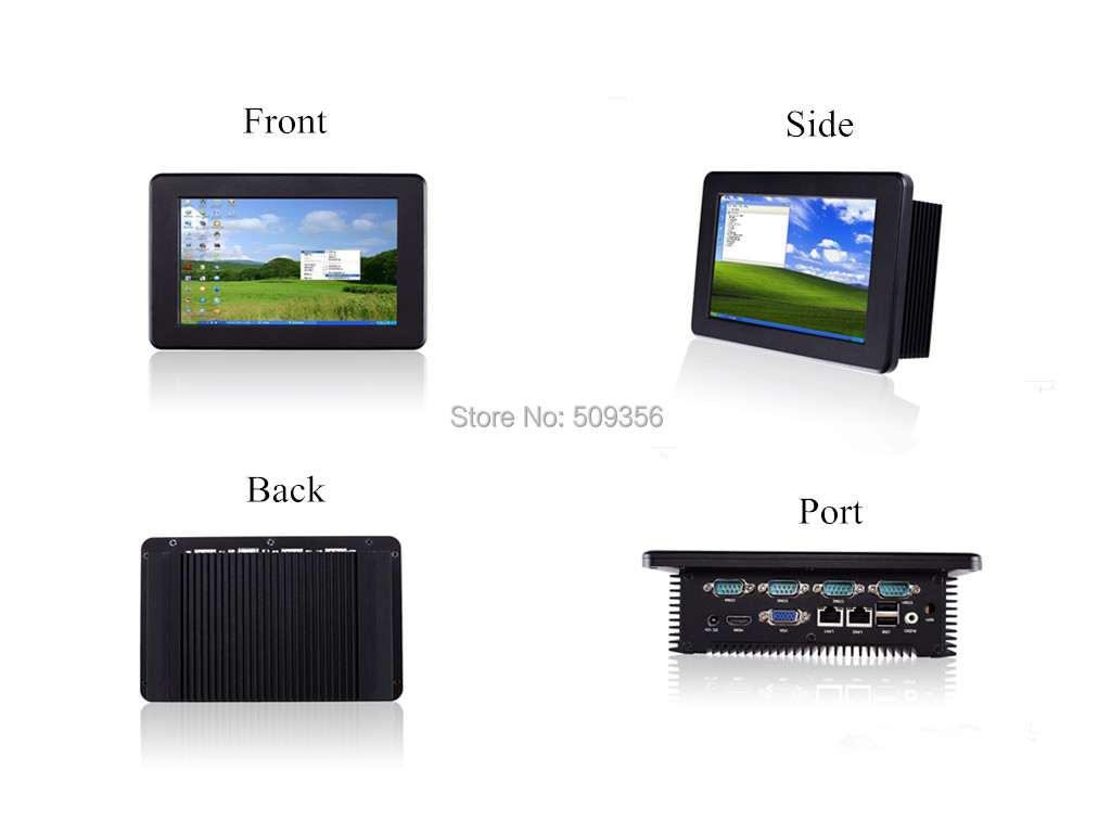 7 inch ATOM N2800 fanless series industrial tablets industrial embedded computer Windows system(China (Mainland))