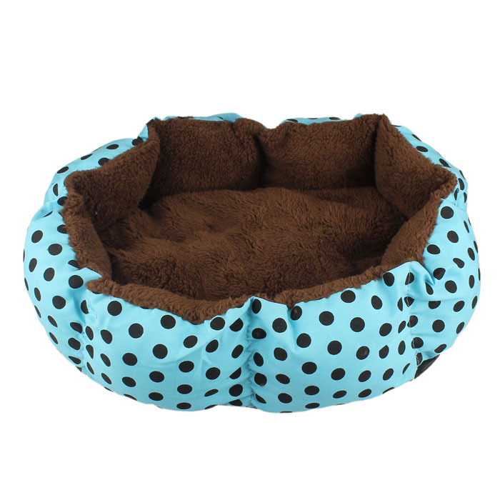2015 New Soft Fleece Pet Dog Nest Bed Puppy Cat Warm Bed House Plush Cozy Nest Mat Pad Dot 4 Colors Freeshipping Promotion