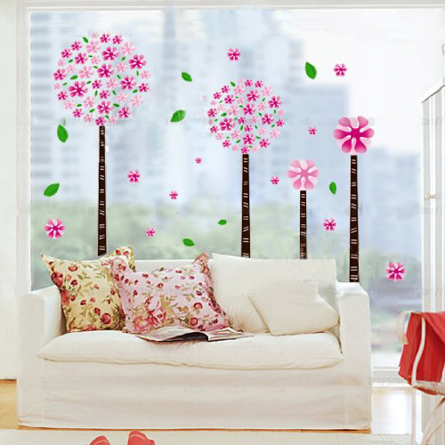 Dandelion Flower Tree Removable Quote Vinyl Nursery Room Wall Decals Stickers(China (Mainland))