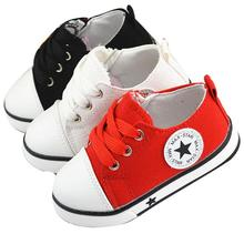 2016 new classic star basic version children canvas shoes soft bottom boys girls High-cut and Low-cut Fashion Sneakers 13- 18cm(China (Mainland))