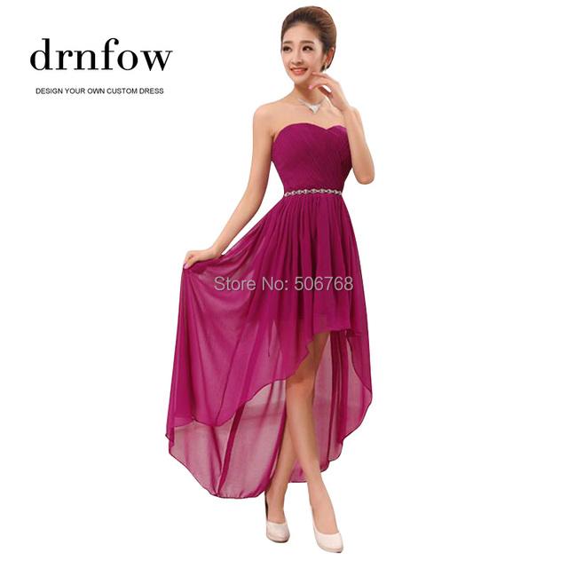2016 drnfow привет-ло мода новые сексуальные женщины без бретелек платья невесты ...