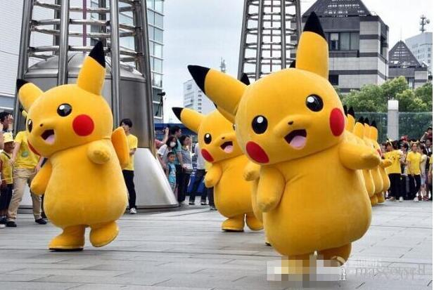 Pikachu Pokemon Mascot Costume Fancy Dress Outfit Free Shipping(China (Mainland))