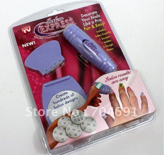 Free Shipping 50 sets/lot New DIY Design Kit Professional Nail Art Stamp Stamping Polish Nail Decoration(China (Mainland))