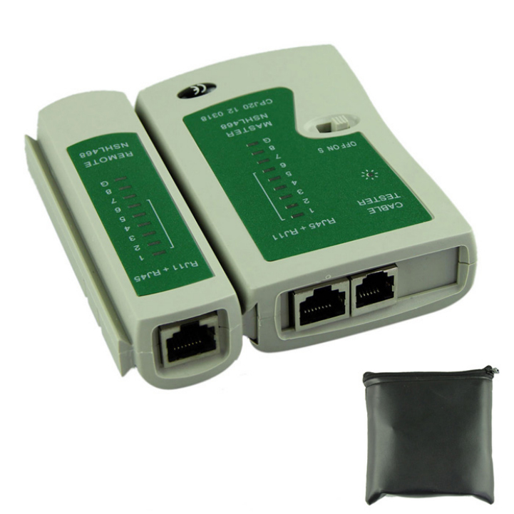 Delicate Network Lan Cable Tester Cat 5 / Cat 5e / Cat 6 / UTP cables with RJ-11 & RJ-45 Hot Selling (China (Mainland))