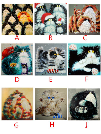 Cross Stitch diy Diamond Painting Colorful CAT Gift For Home Decoration Animal Series Diamond Embroidery Painting bb1396(China (Mainland))