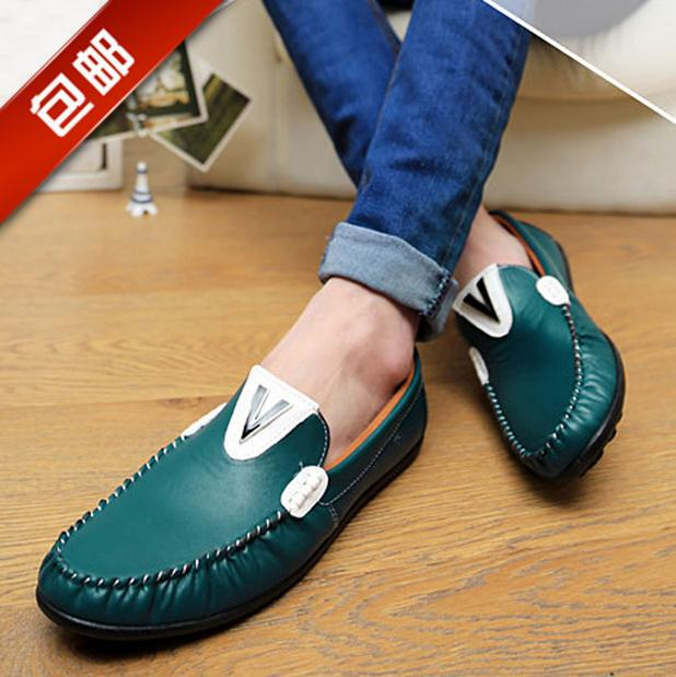 2014 New men flat shoes Brand Moccasins men loafers Peas Shoes Fashion Casual shoes hot sell(China (Mainland))