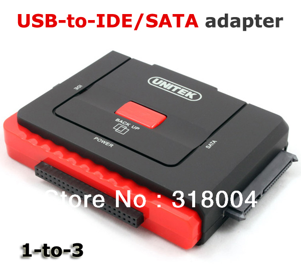 Brand new UNITEK Y-1031 USB to SATA/IDE adapter 1-to-3 3 hard disk work at the same time retail and wholesale drop/free shipping(China (Mainland))