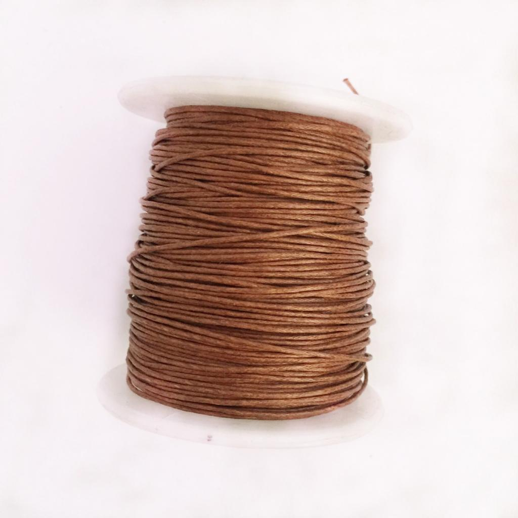 fityle 4 Rolls 1mm Waxed Cotton Cord Thread for DIY Bracelet String Beading Hand Sewing Jewelry Making Beads Supplies 1#