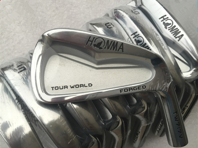 Right Hand Honma TOUR WORLD TW717V Irons Golf Forged Irons Authentic Golf Clubs 3-10 Regular/Stiff Flex Steel Shaft With Cover(China (Mainland))