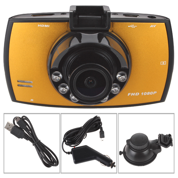 Multifunctional FHD1080P Car DVR Recorder with 2.7 Inch LCD Screen 140 Degree Support G-sensor&Motion Detection&4 x Digital Zoom(China (Mainland))