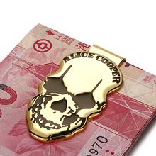 Modern - Luxury Brand New 2017 Copper Skull Icon Money Clip Slim Pocket Purse Cash Organizer Clamp Men Women Wallet(China (Mainland))