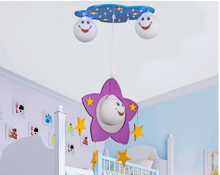 Lamparas Infantiles Para De Techo LED kids Ceiling Lights Modern Bambu Room Lamps Remote Control Bedroom Light Fixtures - credit200 store