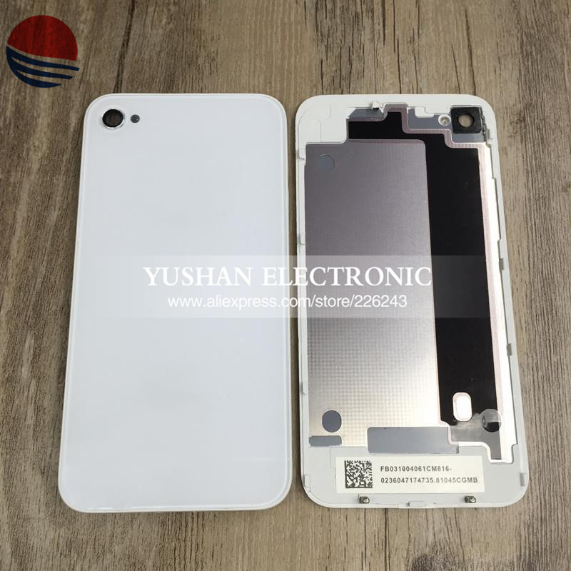 Free Shipping Back Cover Replacement for iPhone 4 4 S 4S Back Glass Black white wholesale and retail Avaliable Free TOOLS(China (Mainland))