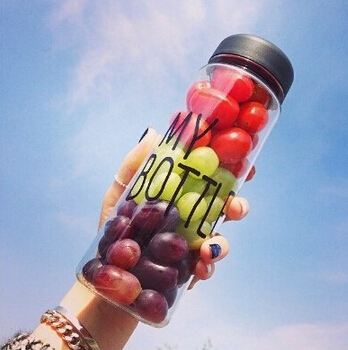 Free shipping 500ml Korea style new design Today s special plastic sports water bottle with words
