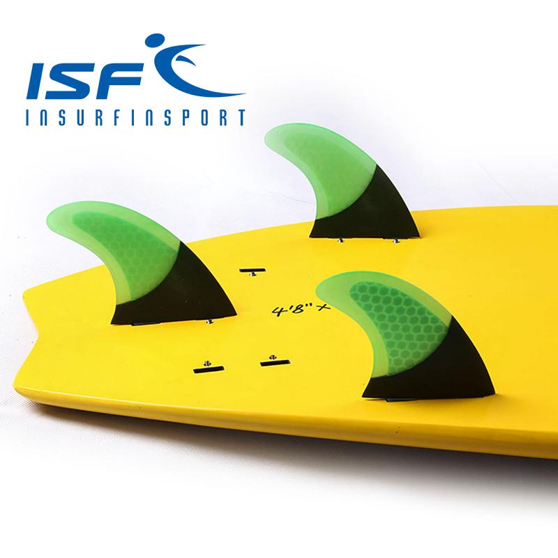 FCS GREEN carbonfiber surfboard fins quilhas de prancha de surf fin longboard paddle surfboard four Quad future center fins(China (Mainland))
