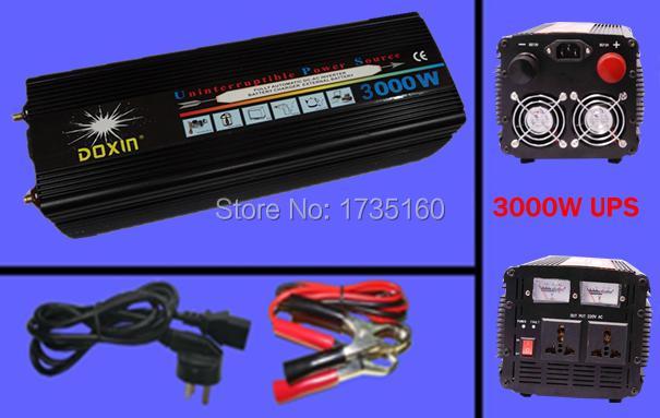 CE RoHS 3000W modified sine wave DC12V/24V/48V to AC inverter charger UPS off grid inverter inverter surge power 3000W 3KW(China (Mainland))