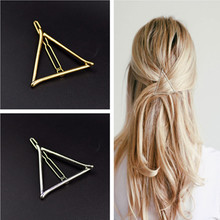 Buy Vintage Gold/ Silver Color Metal Triangle Hairpin Girls' Hair Clips Women Fashion Hair Accessories for $1.06 in AliExpress store