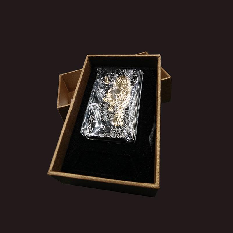 ถูก พ็อกเก็ตโลหะเสือ/อีเกิล/มังกรWindproofเบาชาร์จUSBบุหรี่อิเล็กทรอนิกส์เบาLighterสำหรับของขวัญ