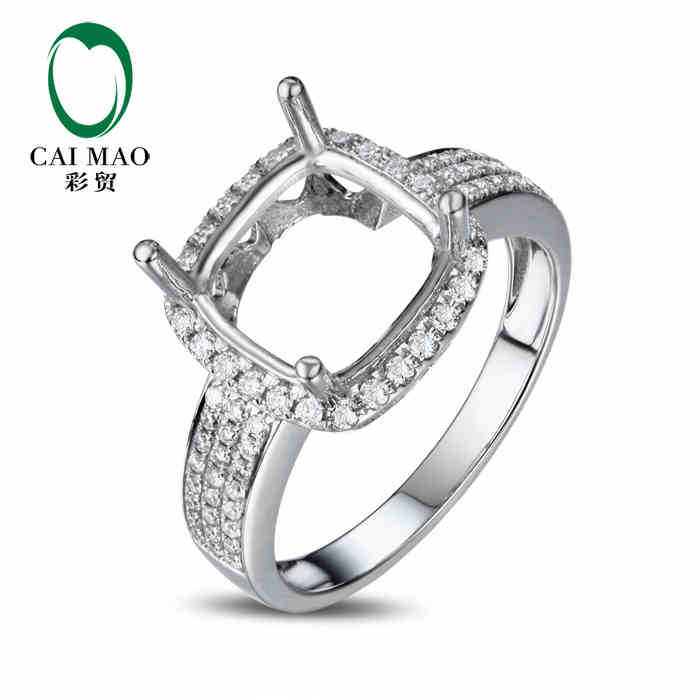 caimao cushion cut semi mount ring settings 0 38ct
