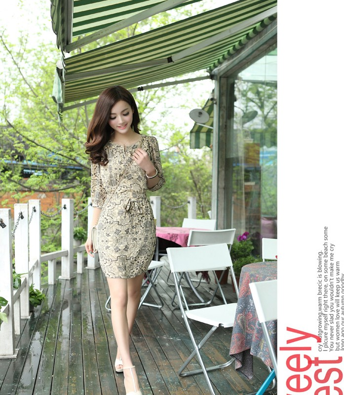2014 summer plus size clothing silk one-piece dress full bohemia beach elegant fairy - bingwen chen's store